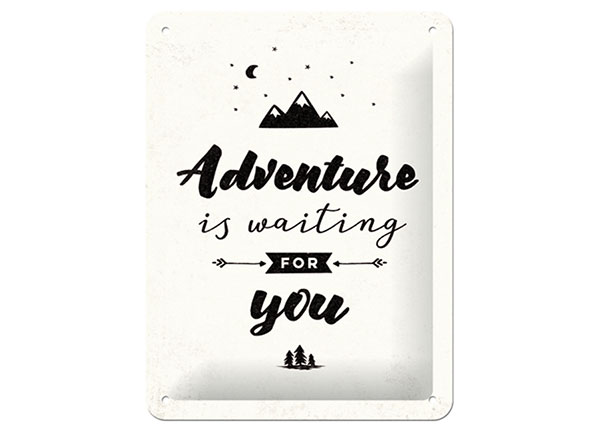 Retro metallposter Adventure is waiting for you 15x20 cm