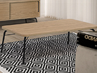 Diivanilaud Ashburn Coffee Table Oak-Black 125x65 cm WO-112877
