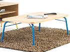 Diivanilaud Ashburn Coffee Table Oak-Blue 125x65 cm WO-112879