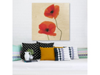 Seinapilt puidul Charming Poppies