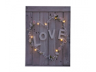 LED pilt Love & Flower Heart 30x40 cm ED-117161