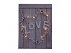 LED pilt Love & Flower Heart 50x70 cm ED-117162