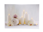 LED pilt Candles & Towels 50x70 cm ED-118516