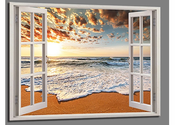 Seinapilt Beach view window, 120x80 cm ED-139721