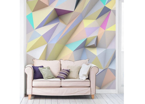 Fliis fototapeet Geometric Pastel Triangles In 3D