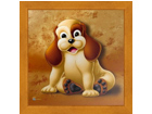 Pilt Children - Dog 16x16 cm OG-37705
