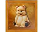Pilt Children - White Bear 16x16 cm OG-37707