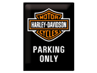 Retro metallposter Harley-Davidson Parking Only 30x40cm SG-61609