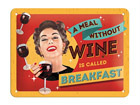 Retro metallposter A meal without wine 15x20cm SG-68141