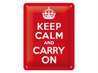 Retro metallposter Keep calm and carry on