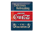 Retro metallposter Coca-Cola 5c Delicious Refreshing 30x40cm SG-70335