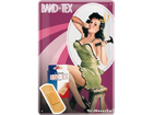 Retro metallposter Pin Up Band-Tex 20x30cm