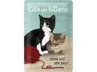 Retro metallposter Cats and Kittens 20x30cm