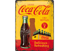 Retro metallposter Coca-Cola in bottles 30x40cm SG-73499
