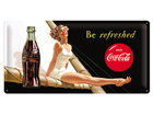 Retro metallposter Coca-Cola Be Refreshed 25x50cm