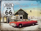 Retro metallposter Route 66 The Mother Road 30x40cm