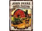 Retro metallposter John Deere Farming Traditions 30x40cm SG-78377