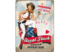 Retro metallposter Royal Flush 30x40cm SG-78380