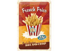 Retro metallposter French Fries 20x30cm SG-78387
