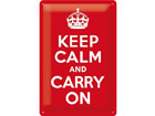 Retro metallposter Keep calm and carry on 20x30cm