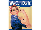 Retro metallposter We can do it! 15x20cm