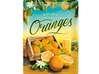 Retro metallposter Oranges 30x40 cm SG-80076