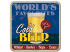 Retro klaasialus Cold Beer 4tk SG-82349