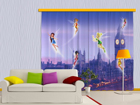 Pimendav fotokardin Disney fairies in London 280x245 cm ED-87458
