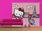 Pimendav fotokardin Hello Kitty with mouse 280x245 cm ED-87467