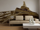 Fototapeet Eiffel Tower black and white 360x254 cm ED-88158