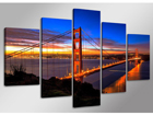 Viieosaline seinapilt Golden Gate Bridge 160x80 cm ED-89581