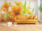 Fliis-fototapeet Orange flowers 360x270 cm ED-90662