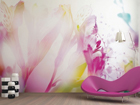 Fliis-fototapeet Light flowers 360x270 cm ED-90670