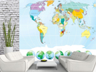 Fliis-fototapeet World map 360x270 cm ED-90722