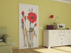 Fliis-fototapeet Watercolor poppies 90x202 cm ED-91121