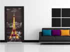 Fliis-fototapeet Eiffel Tower at night 90x202 cm ED-91443