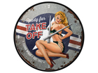 Retro seinakell Pin Up Ready for Take Off SG-91847