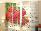 Pimendav paneelkardin Roses and Notes 240x240 cm ED-97619