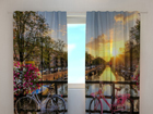 Läbipaistev kardin Beautiful sunrise over Amsterdam 220x240 cm ED-97923