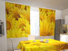 Poolpimendav kardin Sunflowers in the kitchen 200x120 cm ED-98329