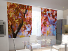 Poolpimendav kardin Maple leaves in the kitchen 200x120 cm ED-98422