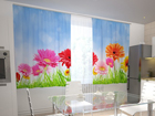Pimendav kardin Bright gerberas in the kitchen 200x120 cm ED-98583
