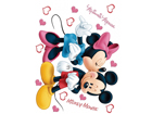 Seinakleebis Disney Minnie and Mickey's 65x85 cm ED-98862