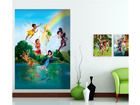 Fliis-fototapeet Disney fairies in the rainbow 180x202 cm ED-99087
