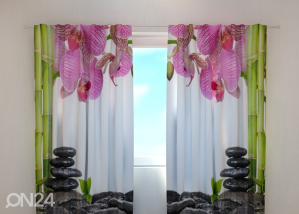 Poolpimendav kardin Orchids and bamboo 240x220 cm ED-100469