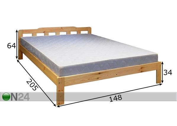 m nnipuidust voodi otto 140x200 cm ec 44045 on24 sisustuskaubamaja. Black Bedroom Furniture Sets. Home Design Ideas