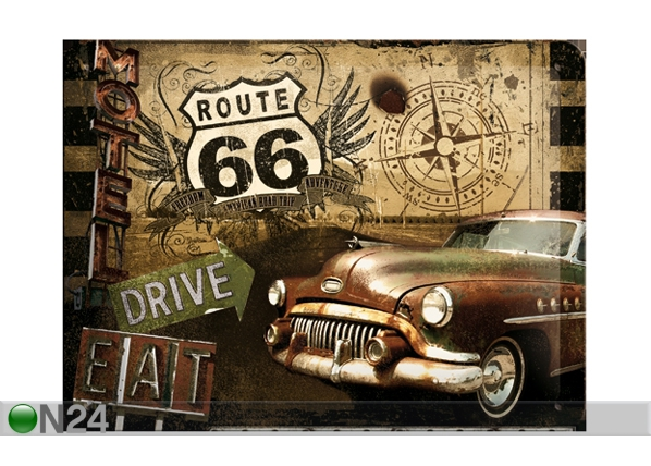 Retro metallposter Route 66 15x20cm SG-61670