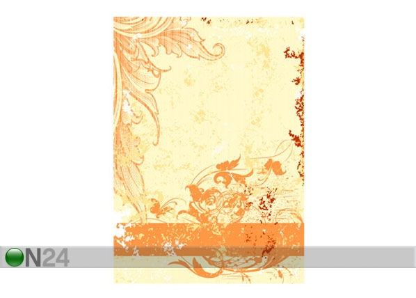 Fototapeet Grunge orange scroll 200x280cm ED-64733