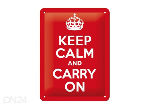 Retro metallposter Keep calm and carry on SG-68147