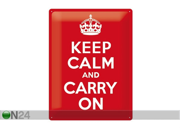 Retro metallposter Keep calm and carry on 30x40cm SG-68163
